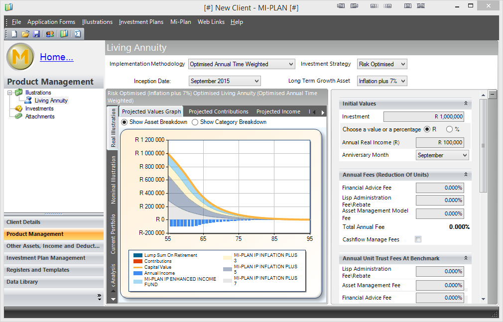 Mi-Plan windows desktop application - MiPlan